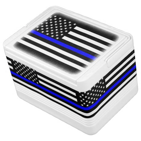 American Thin Blue Line Graphic Cooler