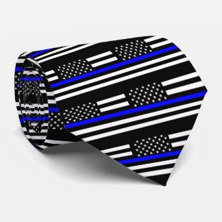 American Thin Blue Line Graphic Decor Tie