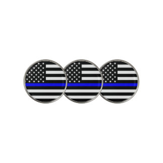 American Thin Blue Line Symbolic on on a Golf Ball Marker