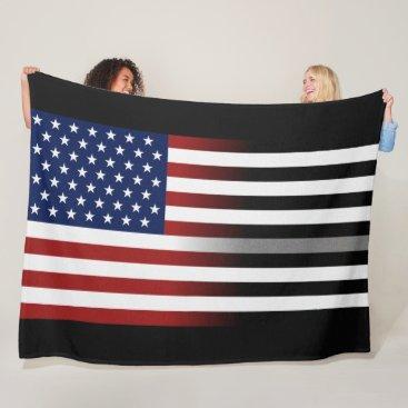 American/Thin Gray Line Flag Fleece Blanket