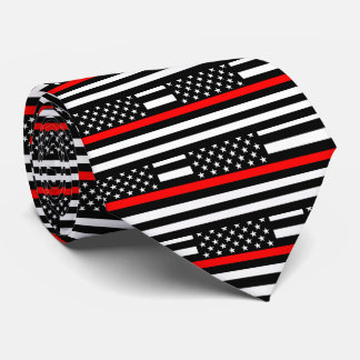 American Thin Red Line Graphic Decor on a Neck Tie