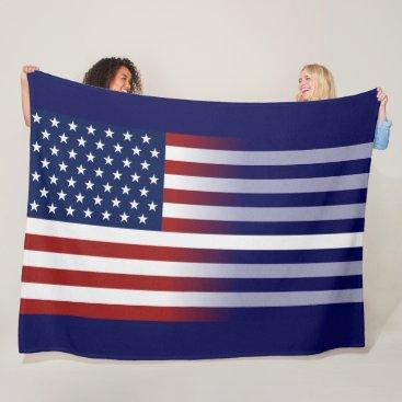 American/Thin White Line Flag Fleece Blanket