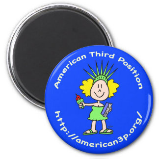 american third position libbie a3p button magnet