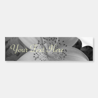 American Tiger Lily (Black & White) Bumper Sticker