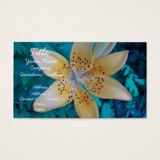 American Tiger Lily Business Card