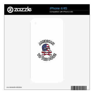 American To The Bone Skin For iPhone 4S