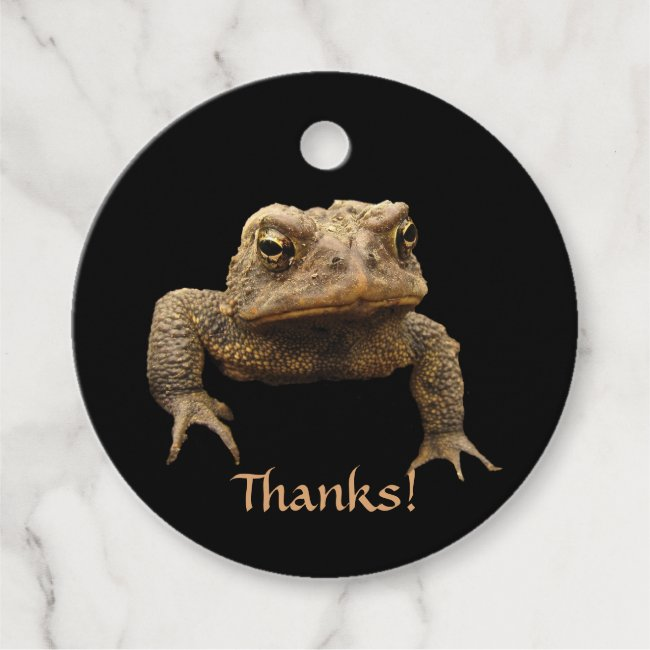 American Toad Animal Thank You Favor Tags
