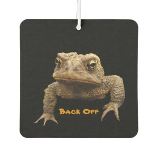 American Toad Back Off Air Freshener