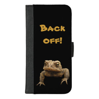 American Toad Back Off iPhone 8/7 Plus Wallet Case