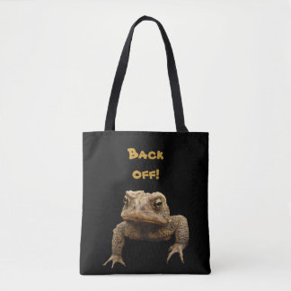 American Toad says Back Off Animal Tote Bag