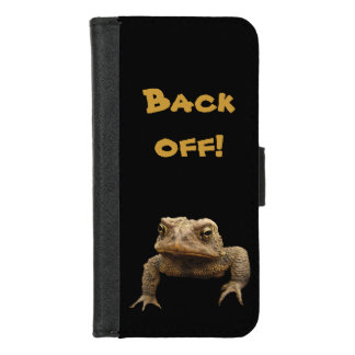 American Toad Says Back Off iPhone 8/7 Wallet Case
