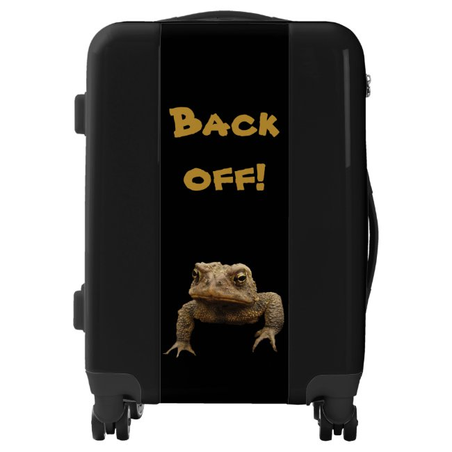 American Toad Says Back Off Luggage