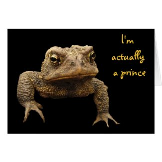American Toad Valentine Card