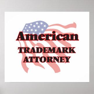 American Trademark Attorney Poster
