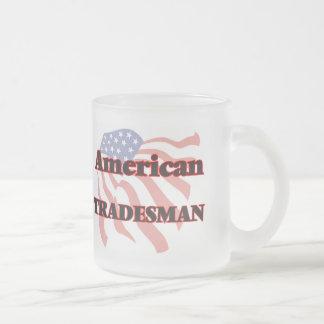 American Tradesman 10 Oz Frosted Glass Coffee Mug
