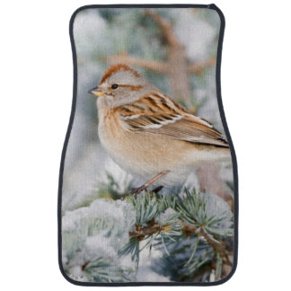 American Tree Sparrow in winter Car Floor Mat
