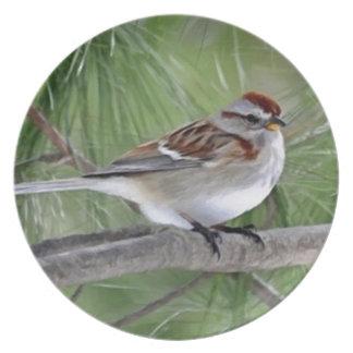American Tree Sparrow Dinner Plate