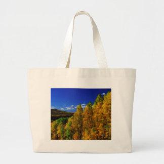 American Trees Fall Season Nature Photography Large Tote Bag