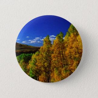American Trees Fall Season Nature Photography Pinback Button