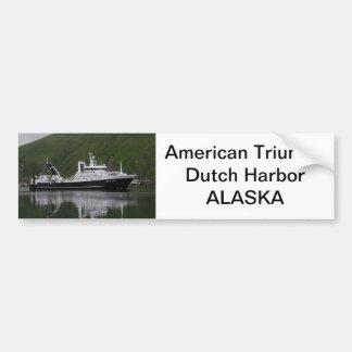 American Triumph, Factory Trawler Car Bumper Sticker