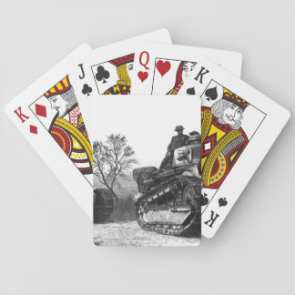 American troops going forward to_War image Playing Cards