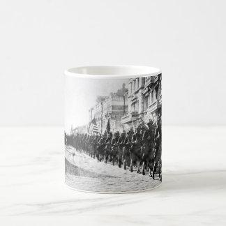 American troops in Vladivostok parading_War Image Coffee Mug