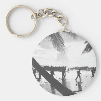 American troops of the 160th Infantry_War Image Keychain