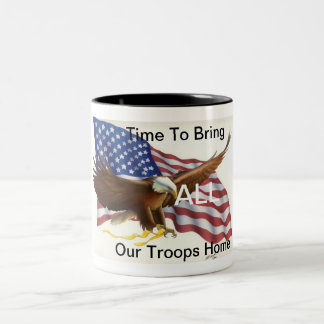American Troops Two-Tone Coffee Mug