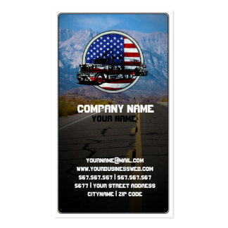 American Truck on Mountain Road Double-Sided Standard Business Cards (Pack Of 100)