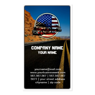 American Truck on Turning Road Double-Sided Standard Business Cards (Pack Of 100)
