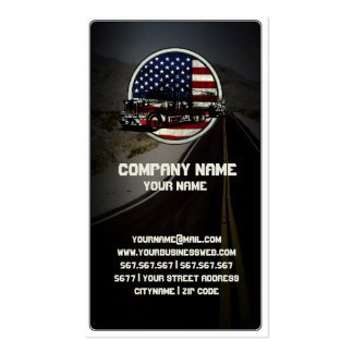 American Truck on Winding Old Road Double-Sided Standard Business Cards (Pack Of 100)
