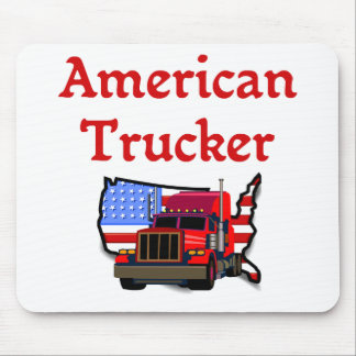 American Trucker Mouse Pad