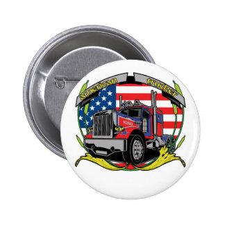 American Trucker Pinback Button