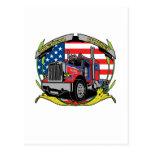 American Trucker Postcard