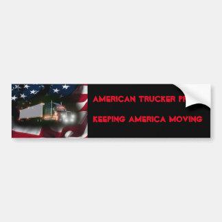 American Trucker Pride Bumper Sticker
