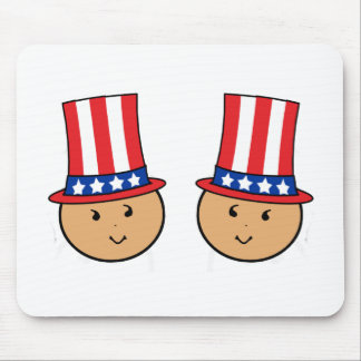 American Twins Graphic Mouse Pad