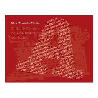 American Typewriter Postcard