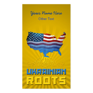 American Ukrainian Roots Business Cards
