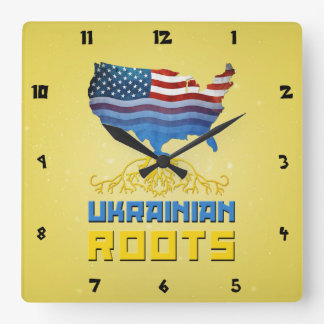 American Ukrainian Roots Wall Clock