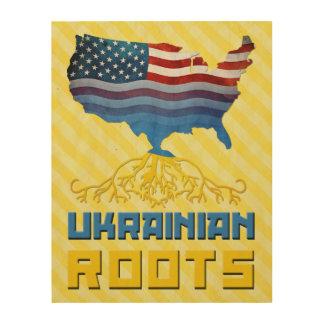 American Ukrainian Roots Wood Wall Art