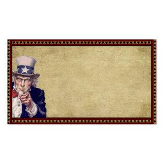 American Uncle Sam- Prim Biz Cards Business Card