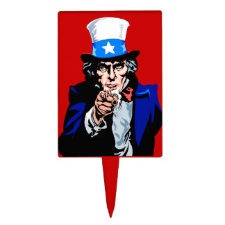 American Uncle Sam Wants You Cake Toppers