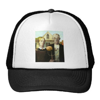 American Undead (American Gothic, Zombified) Trucker Hat