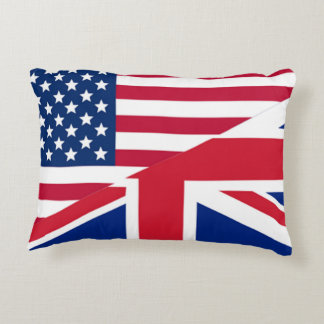 American Union Jack Flag Accent Pillow