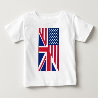 American Union Jack Flag Baby Fine Jersey T-Shirt