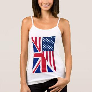 American Union Jack Flag Spaghetti Strap Tank Top