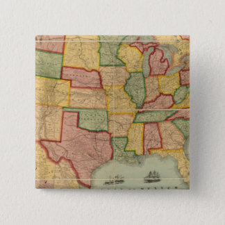 American Union Railroad Map of The United States Button