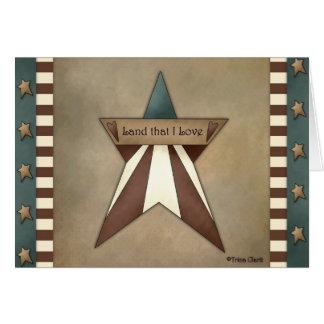 American US Patriotic Star by Trina Clark Card