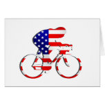 American USA Cycling Cyclists Bicycle Gear Card