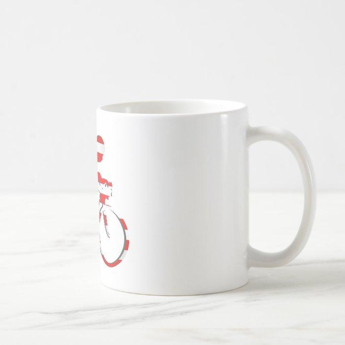 American USA Cycling Cyclists Bicycle Gear Coffee Mug